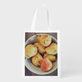 Freshly picked yellow rose apple market totes