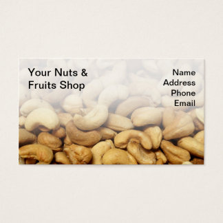 Freshly Roasted Cashew Nuts Business Card