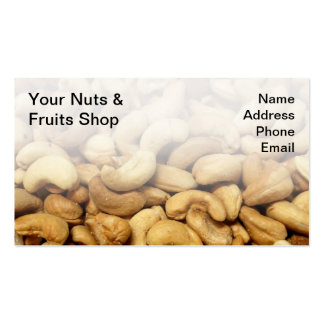 Freshly Roasted Cashew Nuts Business Card Template