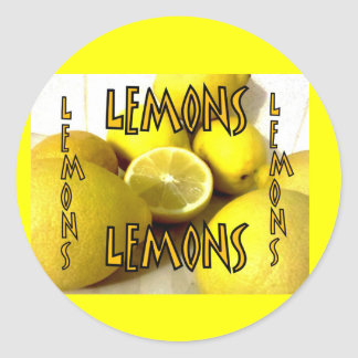 Freshly squeezed Lemons Stickers