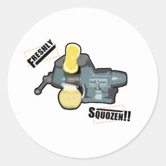 Freshly Squozen Round Sticker