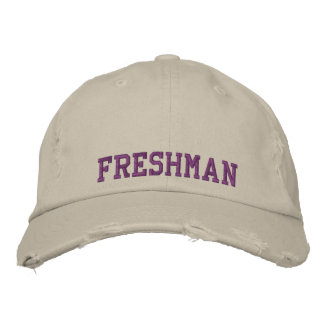 Freshman Embroidered High School/College Cap