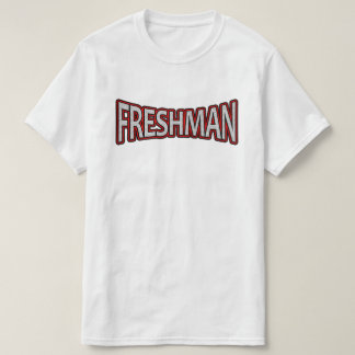 Freshman - The Next Level Red Accent T-shirt