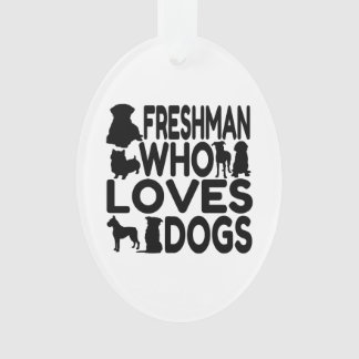 Freshman Who Loves Dogs Ornament