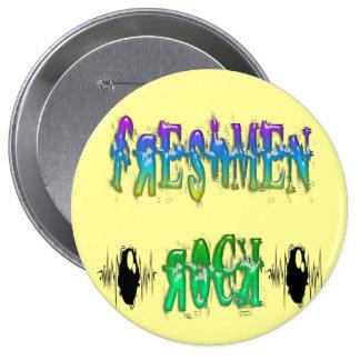 Freshmen Rock - Pulse Pinback Button