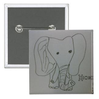 Freshofftheink X sella el elefante Pin Cuadrado