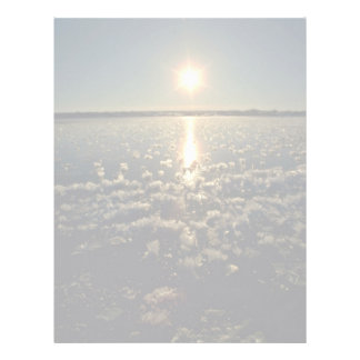 Freshwater and Frost Flowers, Manitoba Pink flower Letterhead