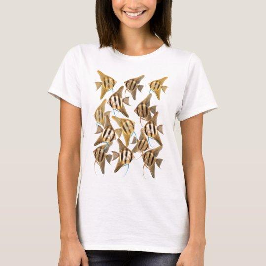 Freshwater Angelfish Baby Doll T-Shirt