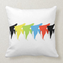 Freshwater Angelfish of 5 colors Throw Pillow