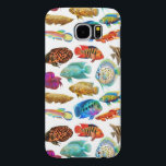 "Freshwater Aquarium Fish Samsung Galaxy S6 Case<br><div class=""desc"">Original fine art design of colorful freshwater tropical aquarium fish including bettas,  discus,  cichlids,  and re by artist Carolyn McFann of Two Purring Cats Studio printed on a quality Samsung Galaxy S6 case.</div>"