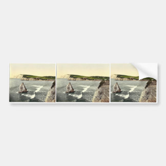 Freshwater Bay and Stag Rock, Isle of Wight, Engla Bumper Stickers