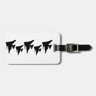Freshwater Black Angelfish Luggage Tag