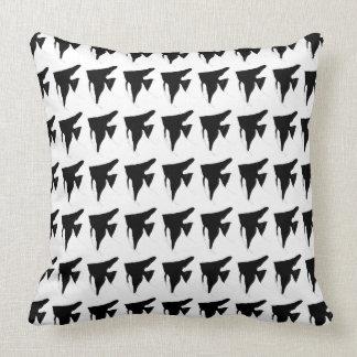 Freshwater Black Angelfish Throw Pillow
