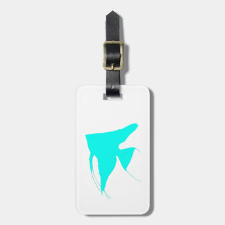 Freshwater Bright Blue Angelfish Luggage Tag