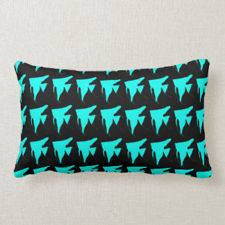 Freshwater Bright Blue Angelfish Throw Pillow