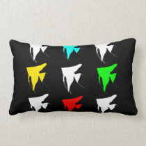 Freshwater Colorful Angelfishes Lumbar Pillow