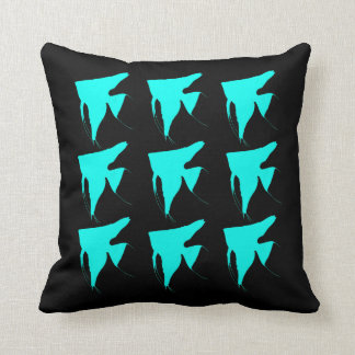 Freshwater Colorful Angelfishes Throw Pillow