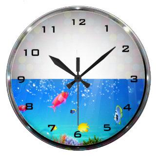 Freshwater Fish Aquarium Wall Clock