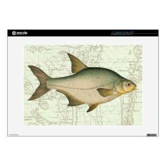 Freshwater Fish on Map Decals For Laptops