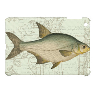 Freshwater Fish on Map iPad Mini Cover