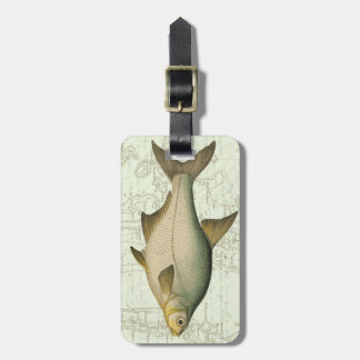 Freshwater Fish on Map Luggage Tag