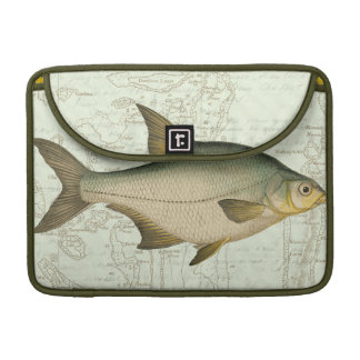 Freshwater Fish on Map Sleeves For MacBooks