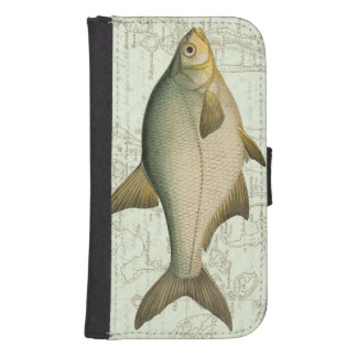 Freshwater Fish on Map Samsung S4 Wallet Case
