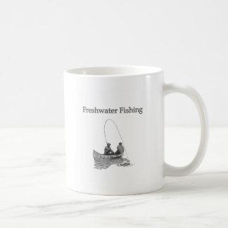 Freshwater Fishing (canoe) Coffee Mug
