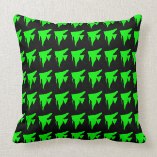 Freshwater Green Angelfish Throw Pillow