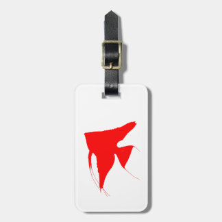 Freshwater Red Angelfish Bag Tag