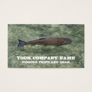 Freshwater river fish business card