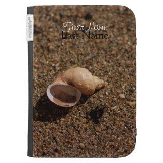Freshwater Snail Shell Customizable Kindle Folio Case