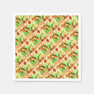 freshwater sunfish print paper napkin