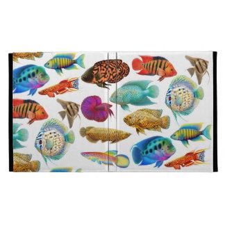 Freshwater Tropical Aquarium Fish iPad Caseable Ca iPad Folio Cover