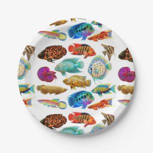 Freshwater Tropical Aquarium Fish Paper Plates  sc 1 st  Zazzle & Fish Plates | Zazzle