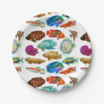 Freshwater Tropical Aquarium Fish Paper Plates 7 Inch Paper Plate