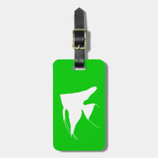 Freshwater White Angelfish Luggage Tag