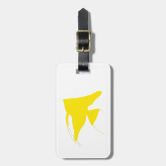 Freshwater Yellow Angelfish Luggage Tag