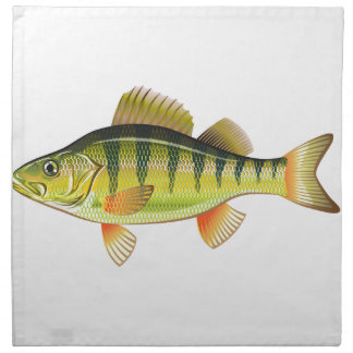 Freshwater Yellow Perch Vector Art graphic design Cloth Napkin