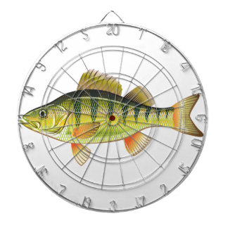 Freshwater Yellow Perch Vector Art graphic design Dart Board