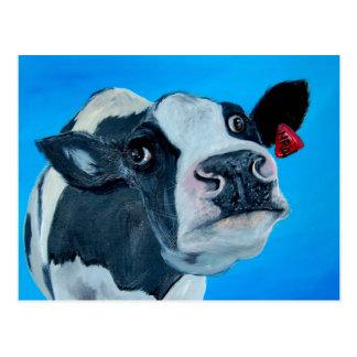 fresian nosey de la vaca del arte postal