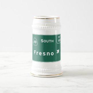 Fresno 99 South Interstate California Highway - Beer Stein