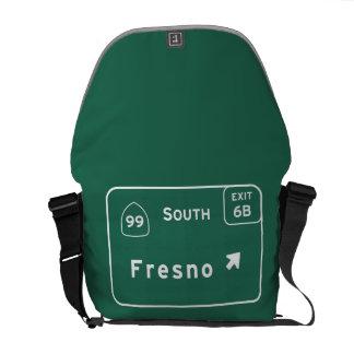 Fresno 99 South Interstate California Highway - Messenger Bag