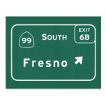 Fresno 99 South Interstate California Highway - Postcard