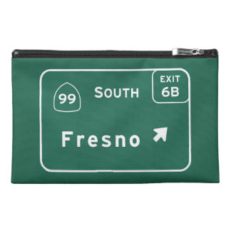 Fresno 99 South Interstate California Highway - Travel Accessory Bag