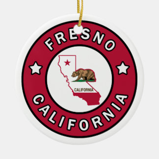 Fresno California Ceramic Ornament