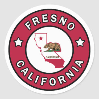 Fresno California Classic Round Sticker