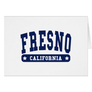 Fresno California College Style tee shirts Cards