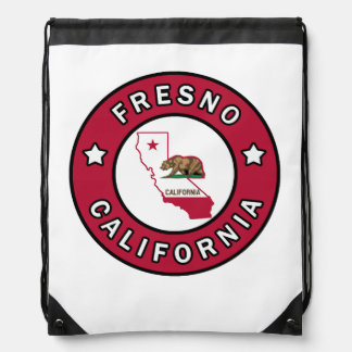 Fresno California Drawstring Bag