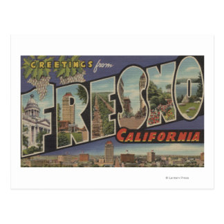 Fresno California - Large Letter Scenes Postcards